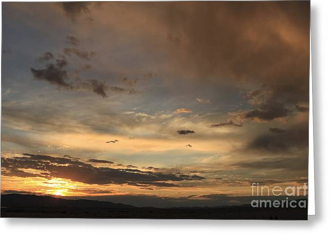 Big Sky Sunset Greeting Card by Carolyn Brown