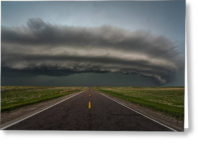 Recently Sold -  - Summer Storm Greeting Cards - Big Springs Nebraska Greeting Card by Colt Forney