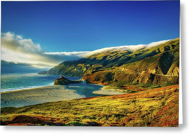 Big Sur At Sunset Greeting Card by D K Hoalee