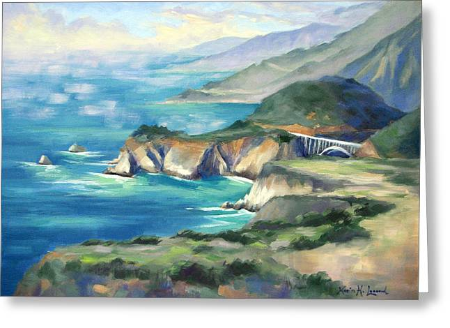 Big Sur Autumn Greeting Card by Karin  Leonard