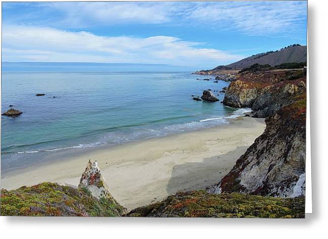Big Sur Ca Greeting Cards - Big Sur Beach Greeting Card by Connor Beekman