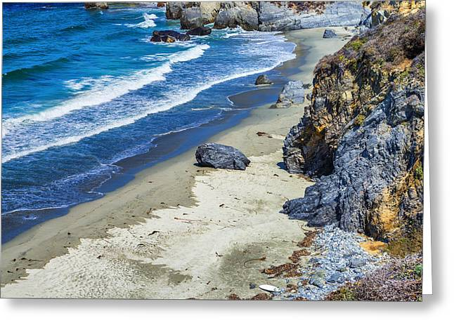 California Big Wave Surf Greeting Cards - Big Sur Beach Greeting Card by Joseph S Giacalone