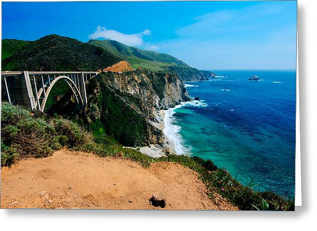 Bixby Bridge Greeting Cards - Big Sur Bixby Bridge Greeting Card by Paul Scolieri