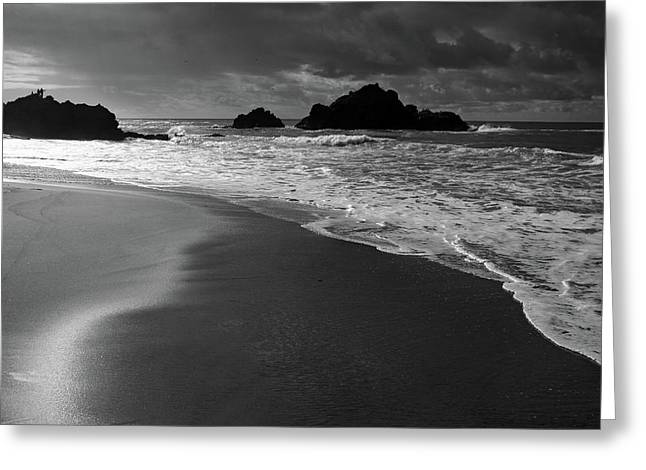 Big Sur Greeting Cards - Big Sur Black and White Greeting Card by Pierre Leclerc Photography