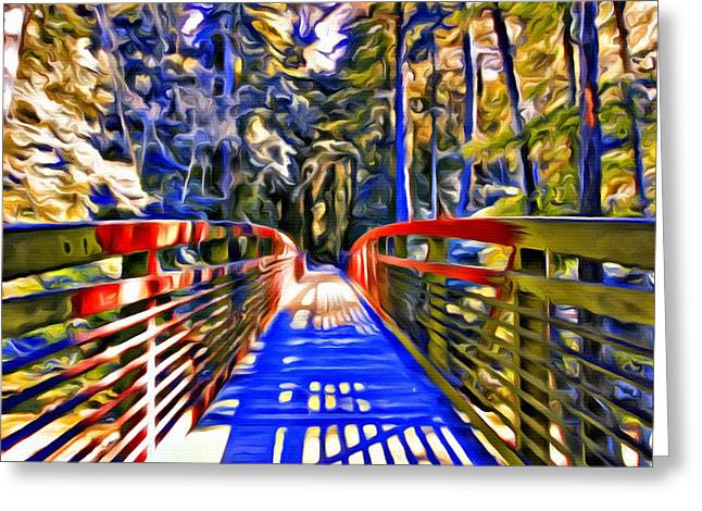 Waterfalls Into The Ocean Greeting Cards - Big Sir Bridge  Greeting Card by Keith Higgins