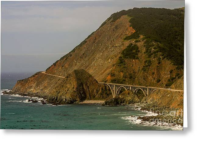 Big Sur Greeting Cards - Big Sur Bridge Greeting Card by Monomit Bhowmik