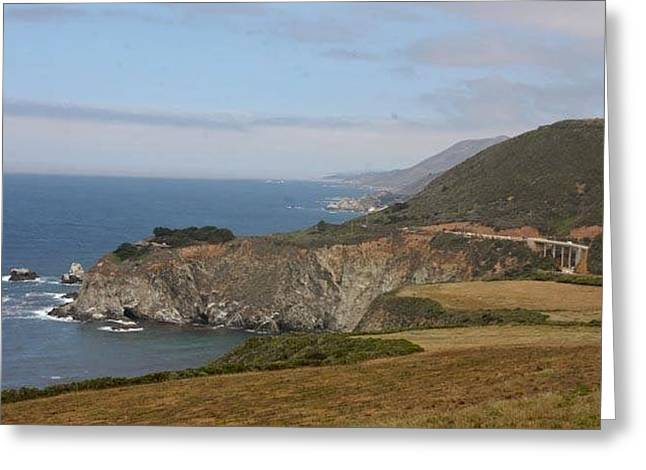 Bixby Bridge Greeting Cards - Big Sur California Greeting Card by Patricia  Wensel