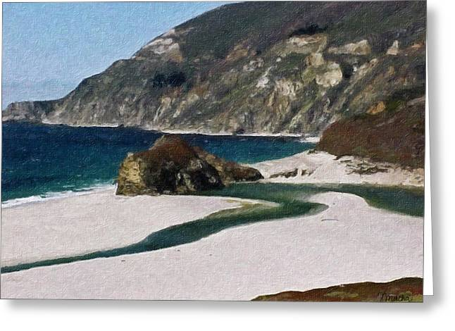 Big Sur Beach Greeting Cards - Big Sur California Greeting Card by Teresa Mucha