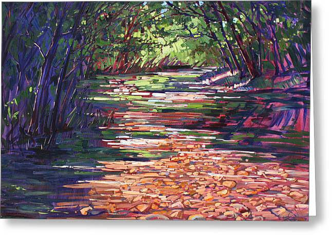Big Wine Greeting Cards - Big Sur Campground Greeting Card by Erin Hanson