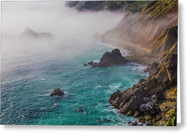 Big Sur Coastal Fog Greeting Card by Garry Gay