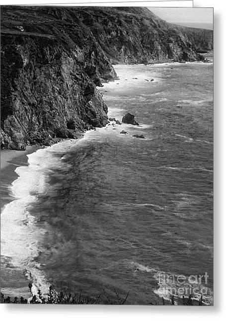 Foggy Beach Greeting Cards - Big Sur Coastline  Greeting Card by Chris Berry