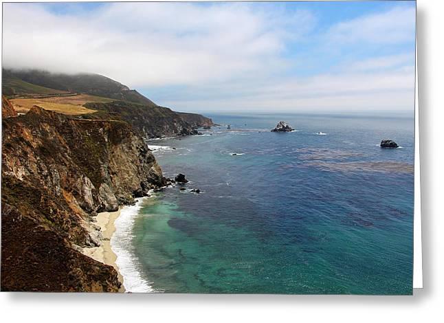 Big Sur Greeting Cards - Big Sur Coastline Greeting Card by Sierra Vance