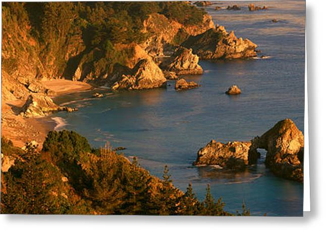 Big Sur Ca Greeting Cards - Big Sur In Springtime, California Greeting Card by Panoramic Images