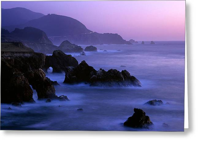 Bixby Bridge Greeting Cards - Big Sur Magic Hour Greeting Card by Brad Kazmerzak