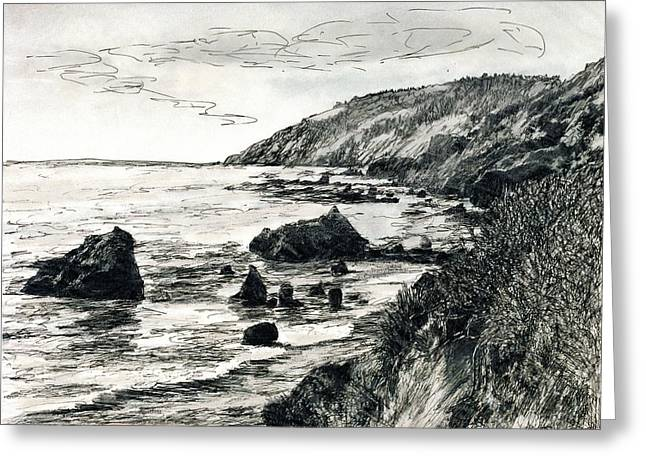 Big Sur Greeting Card by Randy Sprout