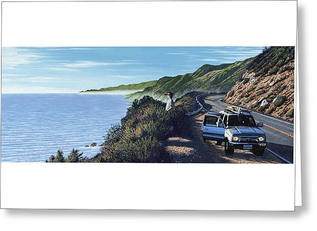 Pch Paintings Greeting Cards - Big Sur Roadtrip Greeting Card by Andrew Palmer