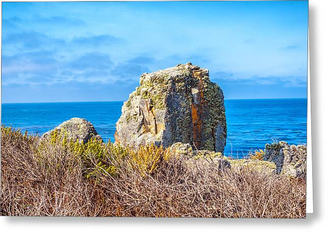 Big Sur California Greeting Cards - Big Sur Rock Greeting Card by Joseph S Giacalone