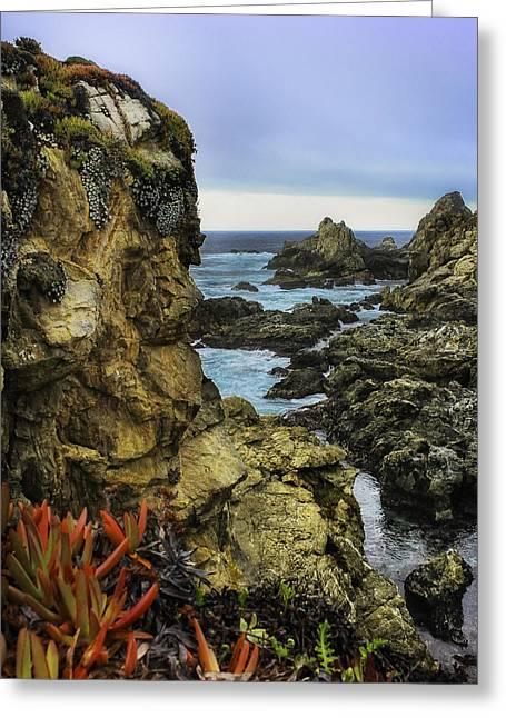 Big Sur Greeting Cards - Big Sur Rocks Greeting Card by L Gilbert