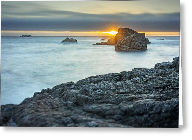 Big Sur Greeting Cards - Big Sur Seascape Greeting Card by Steve Spiliotopoulos