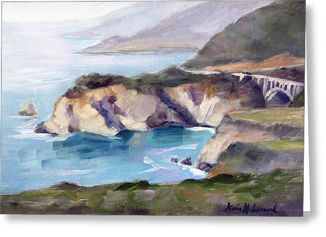 Big Sur Views Greeting Card by Karin  Leonard