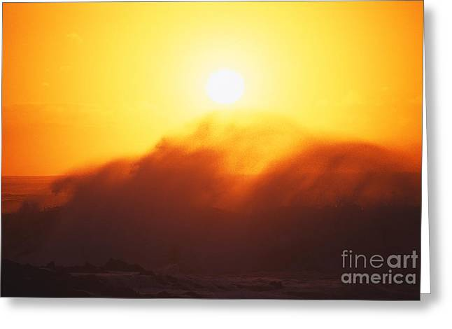 Vince Greeting Cards - Big Waves At Sundown Greeting Card by Vince Cavataio - Printscapes