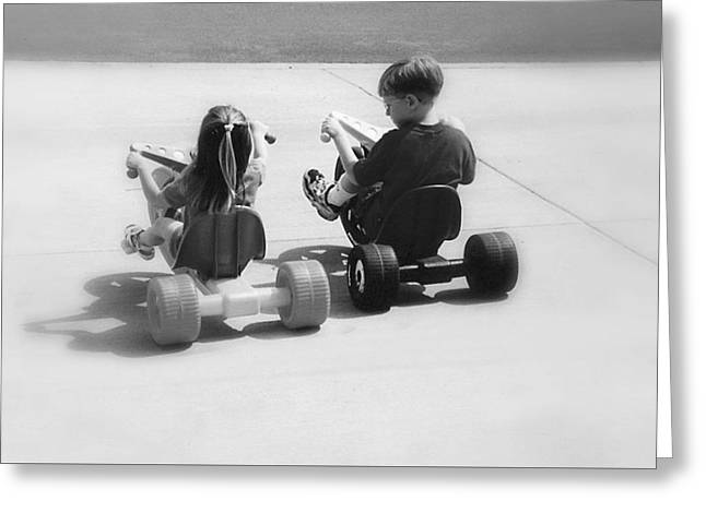 Best Friend Greeting Cards - Big Wheel Buddies Greeting Card by Classically Printed