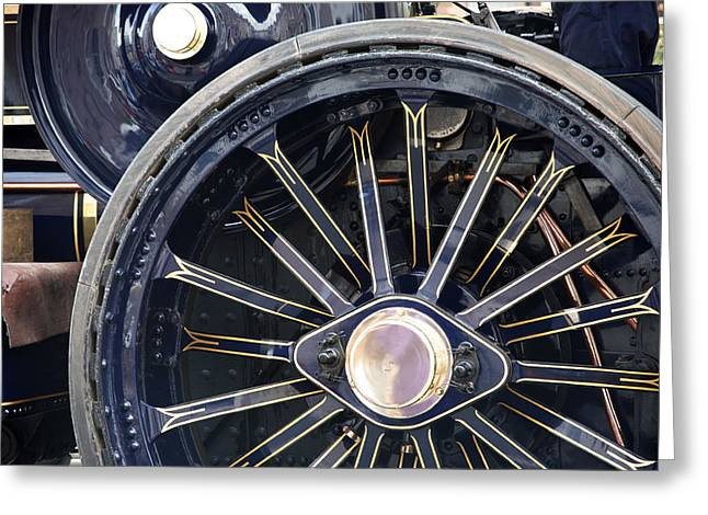 Dynamos Greeting Cards - Big wheel.  Greeting Card by Christopher Rowlands