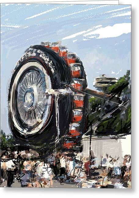 Big Wheel In The Sky Greeting Card by Russell Pierce