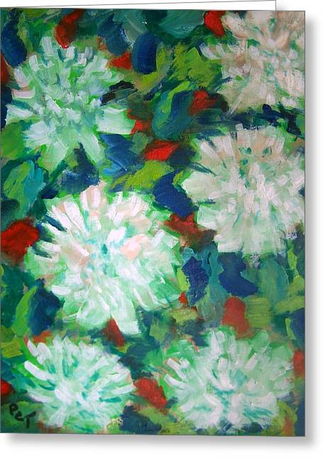 Big White Mums Greeting Card by Patricia Taylor