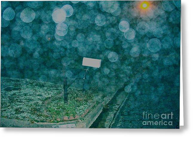 Streetlight Greeting Cards - Bigger Alien Bubbles Move in for Final Attack Greeting Card by Chuck Taylor