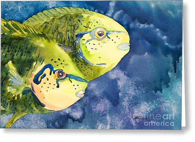 Bignose Unicornfish Greeting Card by Tanya L Haynes - Printscapes
