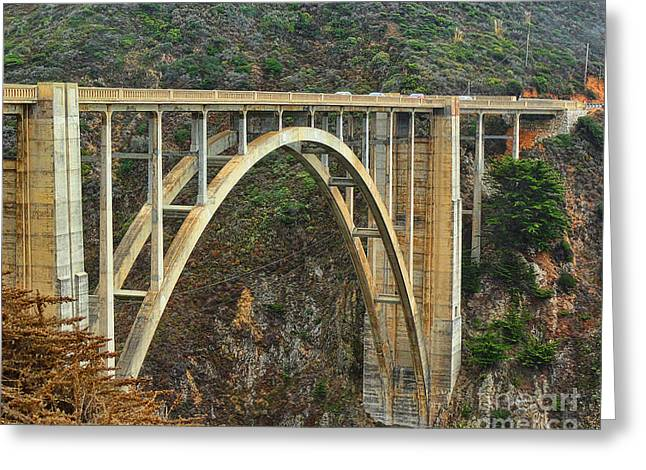 Bixby Bridge Greeting Cards - Bixby Creek Bridge - Big Sur California Greeting Card by TN Fairey