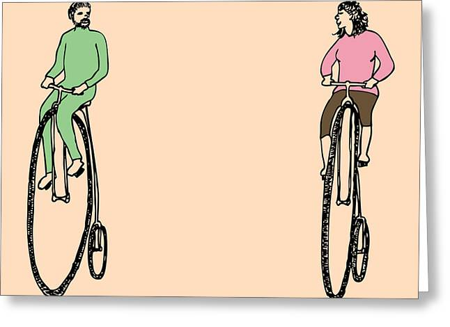 Bike Buddies Greeting Card by Karl Addison