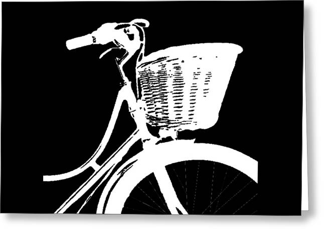 Bike Graphic Tee Greeting Card by Edward Fielding