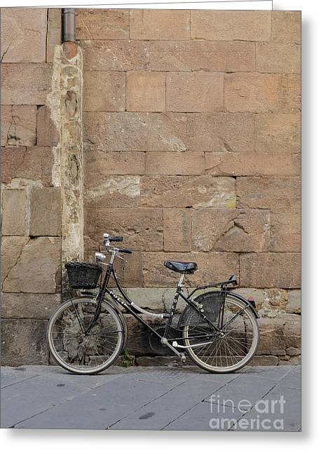 Lucca Greeting Cards - Bike Lucca Italy Greeting Card by Edward Fielding