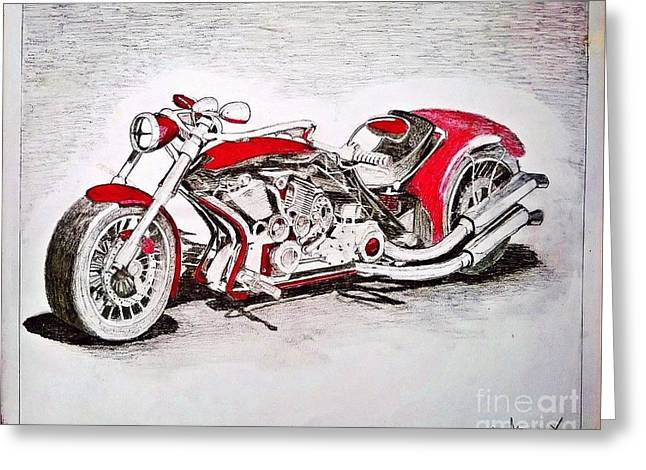 Pen Greeting Cards - Bike Greeting Card by Moscolexy Moscolexy