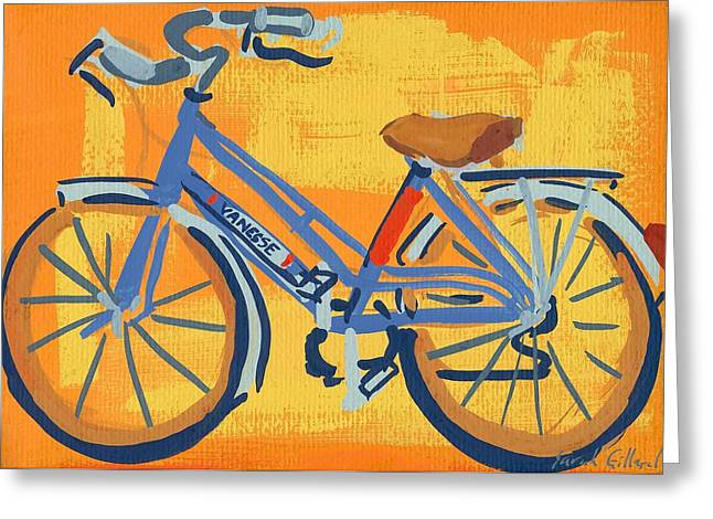 Spokes Paintings Greeting Cards - Bike Greeting Card by Sarah Gillard