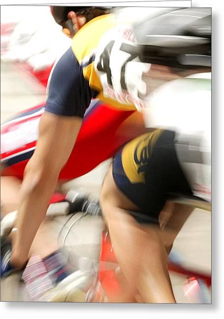 Bike Series 4 Greeting Card by Shelley D Spray