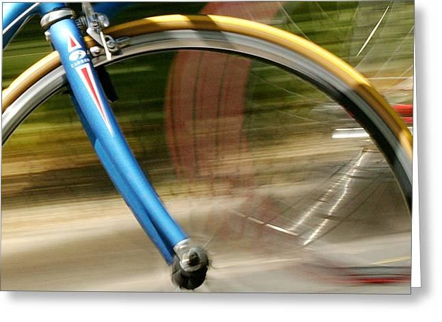 Bike Series Greeting Card by Shelley D Spray