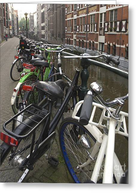 Holland Greeting Cards - Bikes as far as the eye can see Greeting Card by Andy Smy
