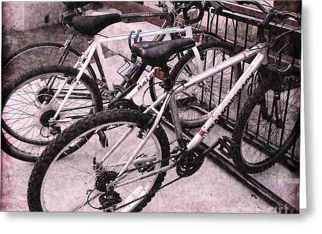 Original Photographs Greeting Cards - Bikes Greeting Card by Colleen Kammerer