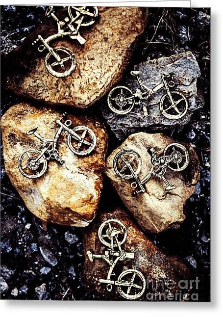 Biking Trail Scene Greeting Card by Jorgo Photography - Wall Art Gallery