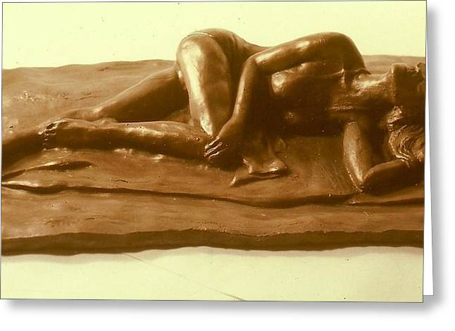 Realism Sculptures Greeting Cards - Bikini Babe  Greeting Card by Harry  Weisburd