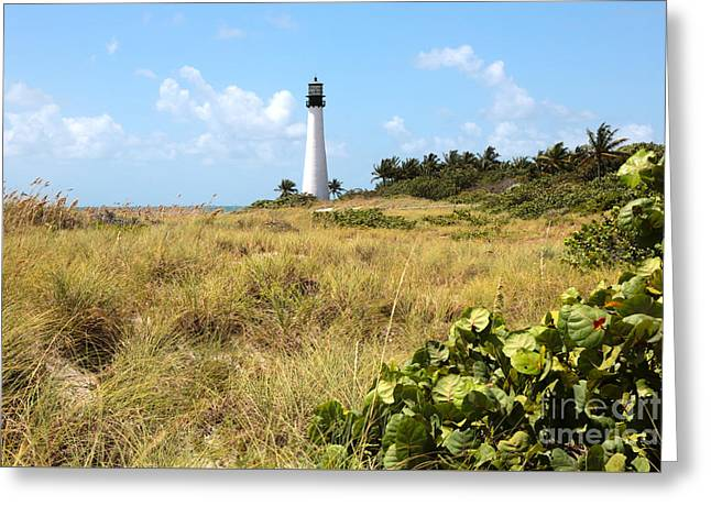 Bill Baggs Greeting Cards - Bill Baggs Lighthouse with Dunes Greeting Card by Carol Groenen