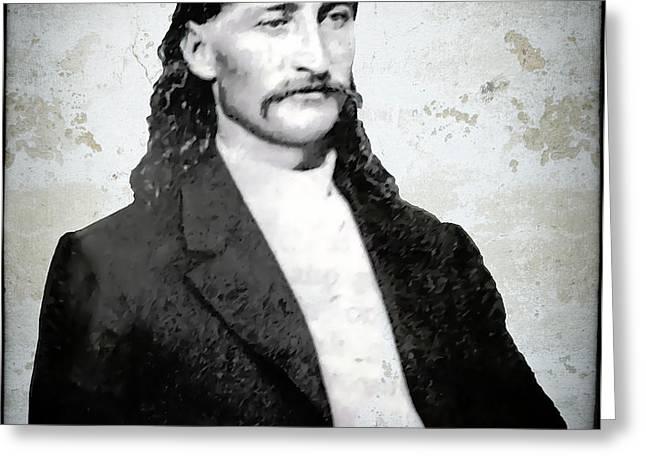 Bill Hickok  1865 Greeting Card by Daniel Hagerman