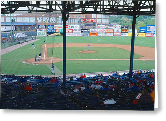 Baseball Game Photographs Greeting Cards - Bill Meyer Stadium, Aa Southern League Greeting Card by Panoramic Images