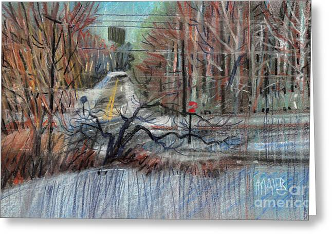 Winter Pastels Greeting Cards - Billboard on 75 South Greeting Card by Donald Maier