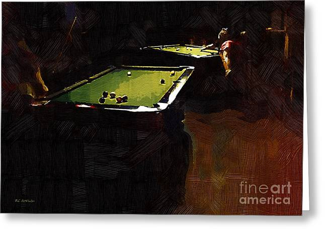 Table Greeting Cards - Billiards Ballet Greeting Card by RC deWinter