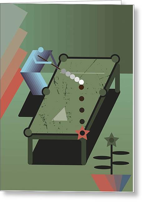 Billiards Greeting Card by Benjamin Gottwald
