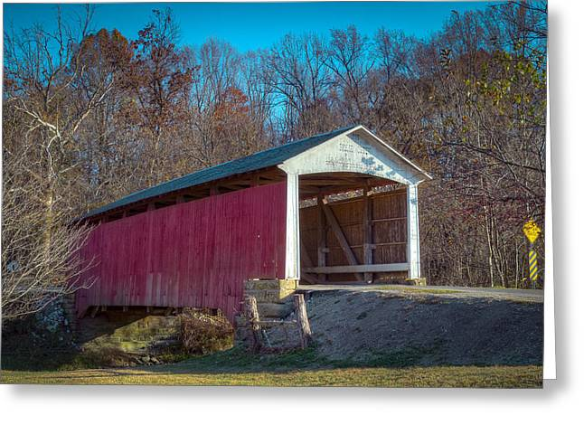 Billie Creek Covered Bridge - 16 Greeting Card by Jack R Perry